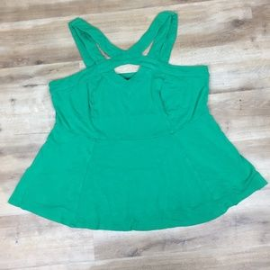 Torrid Criss-Cross Tank Top Green 2